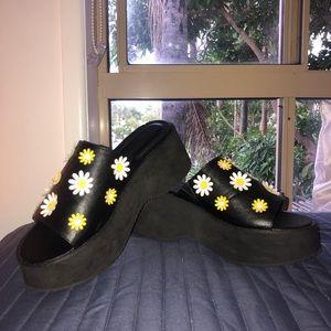 ASOS ladies platform daisy wedges